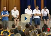 Jordan Kahu, Paul Dyer, Fletcher Holmes and Corey Parker at Assembly